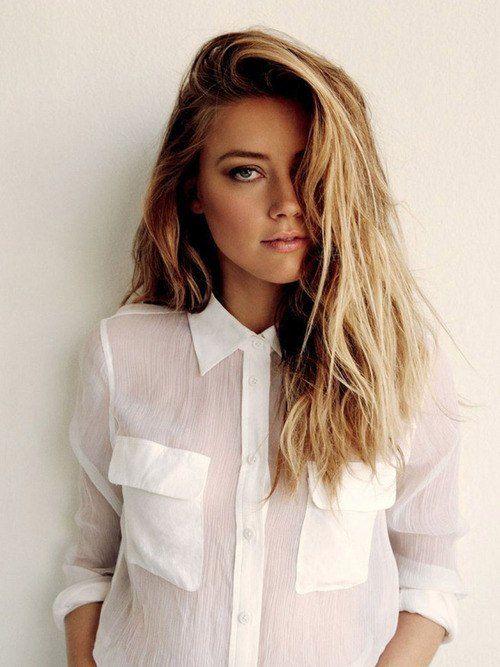 Amber Heard Perfect Hair ヘアカラー ヘアスタイル ファッションアイデア
