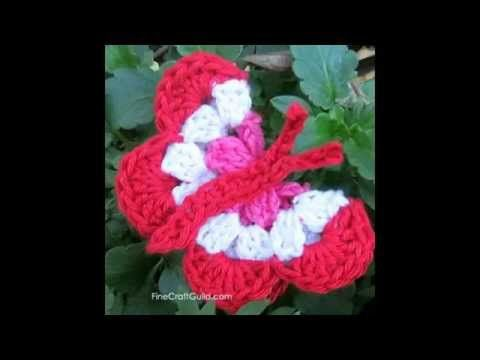 Mariposas tejidas a crochet crochet Amigurumi muy fácil ...