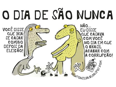 Newton Silva • Chargista Cearense: DIA DE SÃO NUNCA