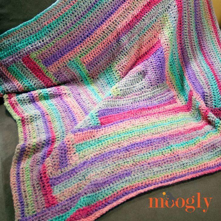 Easy Log Cabin Afghan Pattern | Manta, Pieceras y Colchas tejidas