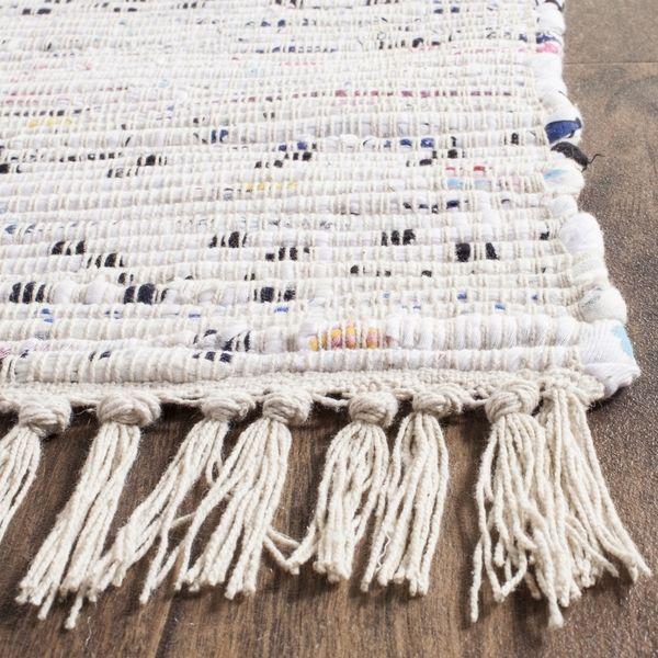Safavieh Hand Woven Rag Rug Ivory Multi Cotton 10 X 14