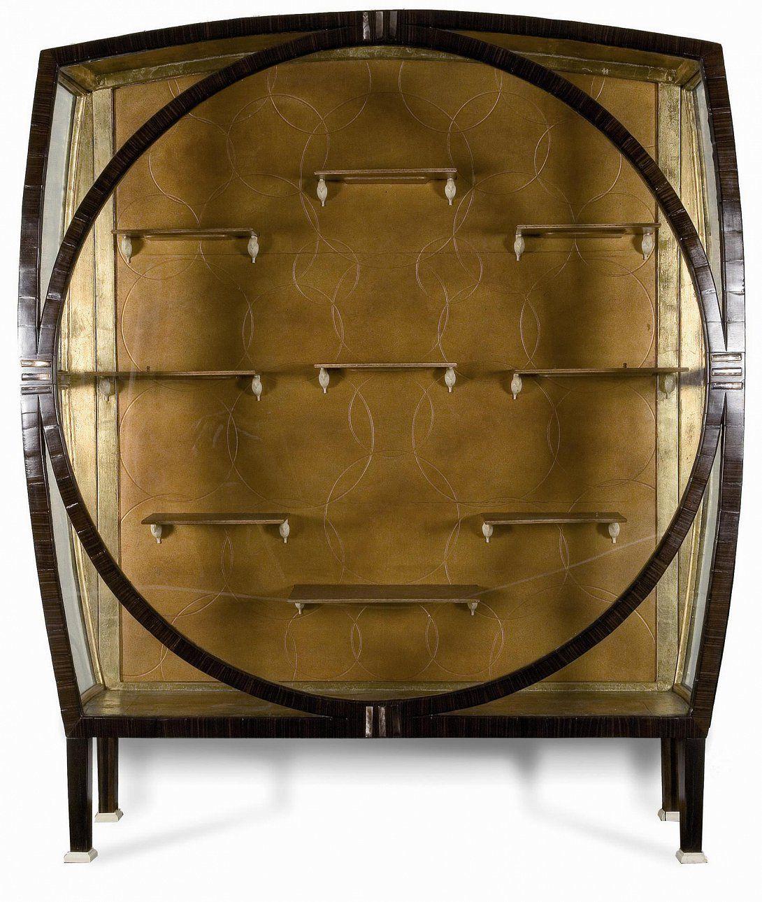 marcel coard vitrine placage d 39 b ne de macassar et de nacre sabots en ivoire 1914 1915. Black Bedroom Furniture Sets. Home Design Ideas
