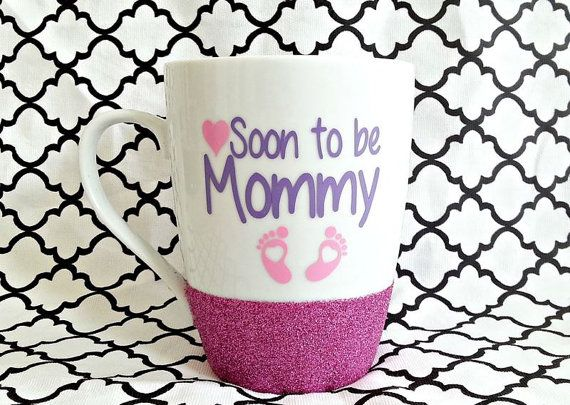 Mommy Mug To Be Soon Mom Glitter Pregnancy Gift It S A Future New Baby On Board