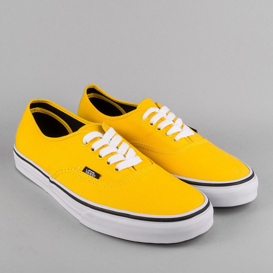 Vans Authentic Mens/Womens Lemon Chrome/Black Shoe Sneaker 10M/11.5W #