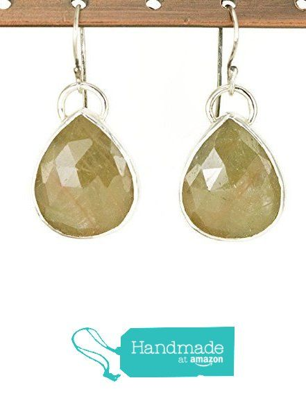 Rose Cut Sapphire Sterling Earrings - Etched Pattern Backs - Pale ...