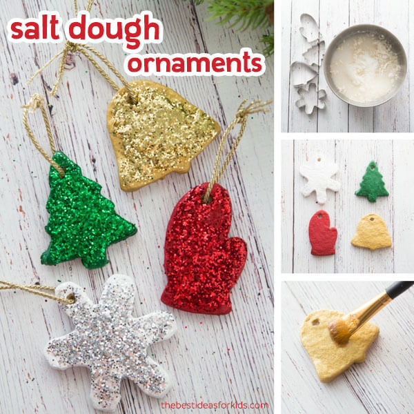 Salt Dough Handprint Ornament #saltdoughrecipe