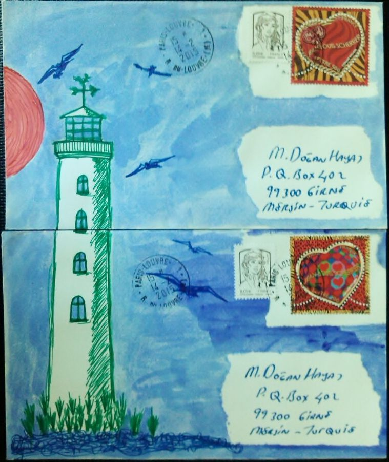my mailart, from paris to Girne, TRNC