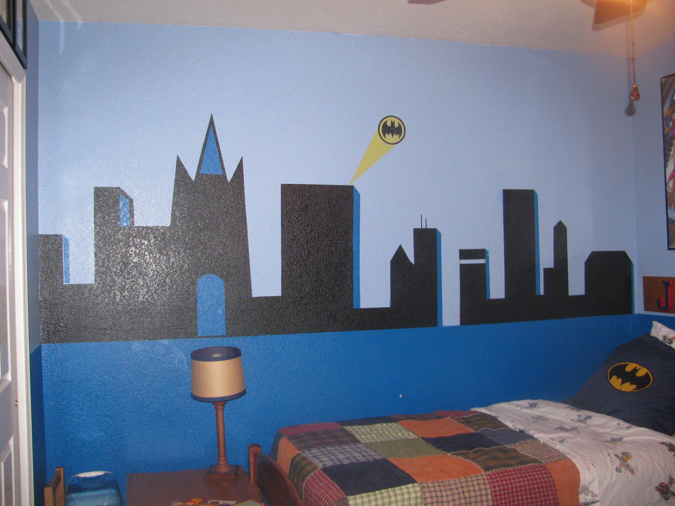 Batman wall mural my originals pinterest wall murals for Batman bedroom wall mural