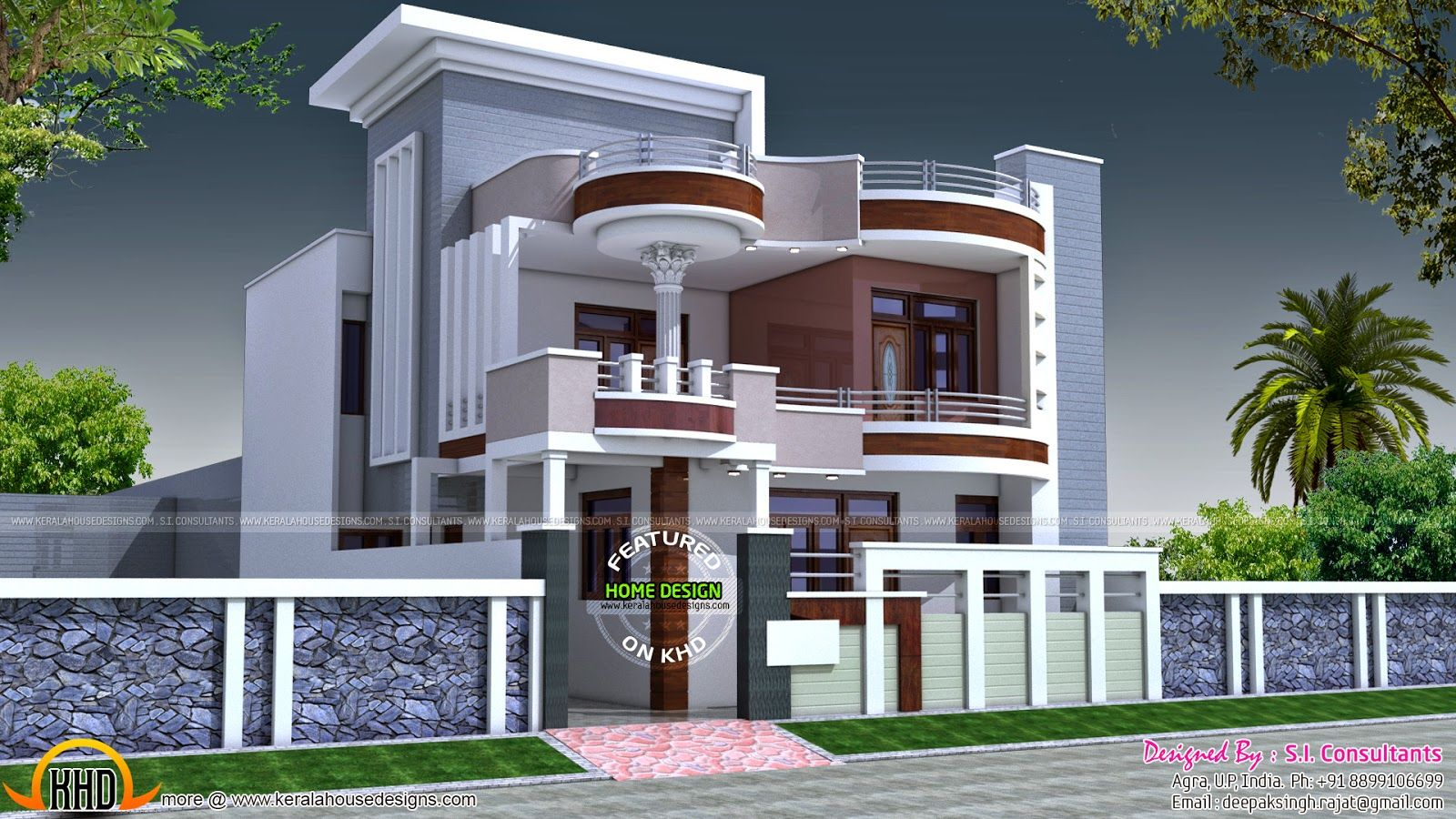 House plans india google search srinivas pinterest for Exterior house designs indian style