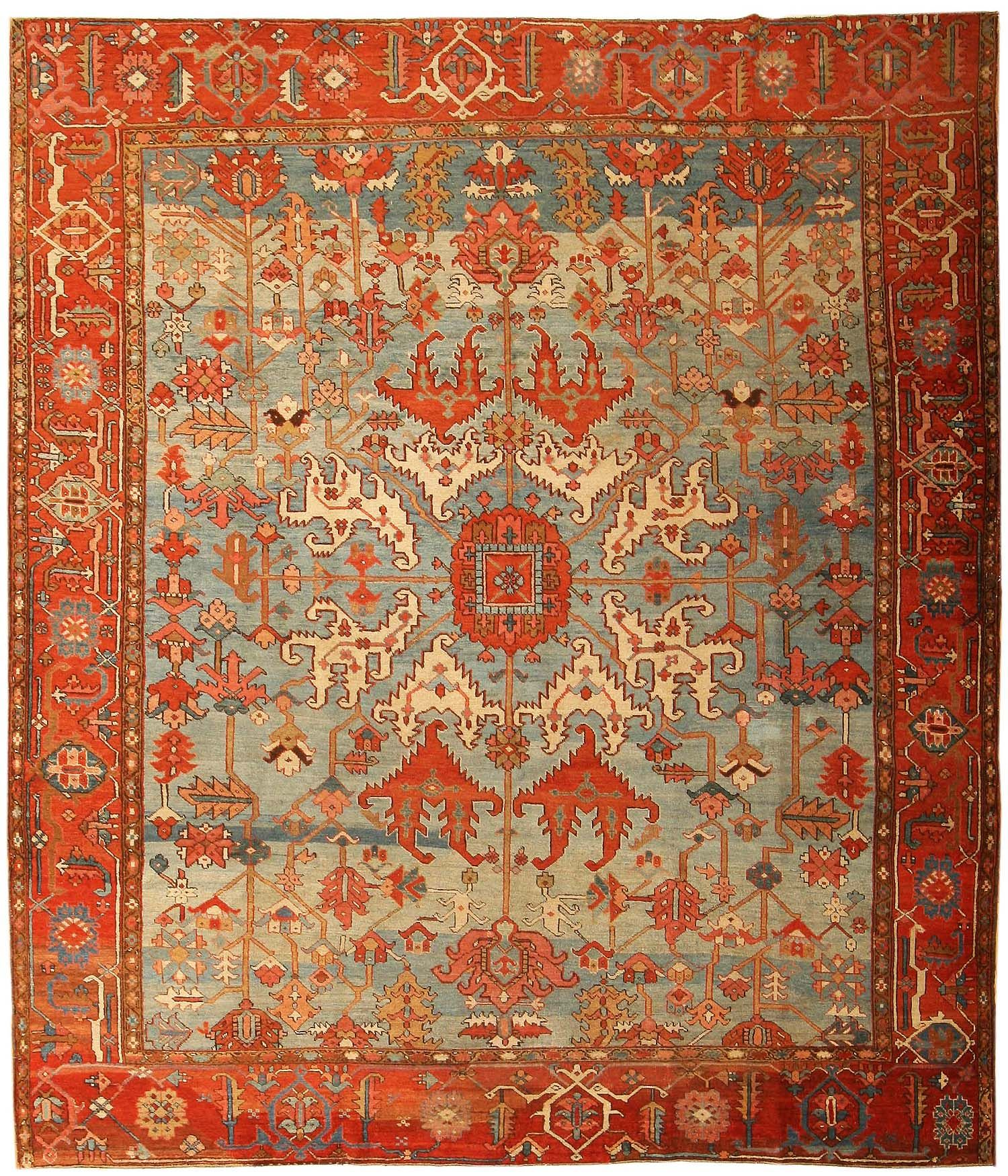 View This Beautiful Antique Heriz Serapi Persian Rugs 43719 From Nazmiyal S Fine And Decorative Carpet Collection