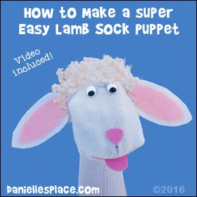 Easy To Make Lamb Or Sheep Sock Puppet Craft For Kids From