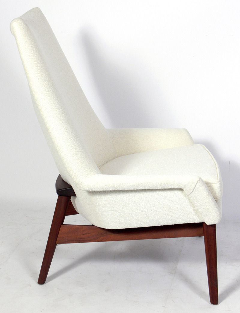 Best Sculptural Modern Lounge Chair By Jens Risom Image 3 400 x 300