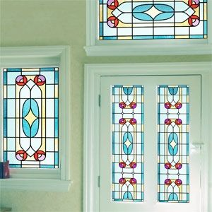 Victorian Glass Window Film Made Easy By Purlfrost Stained