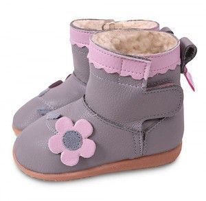 9d1bbe4d6f2df Grey with pink flowers smileys winter boots | shooshoos smileys ...