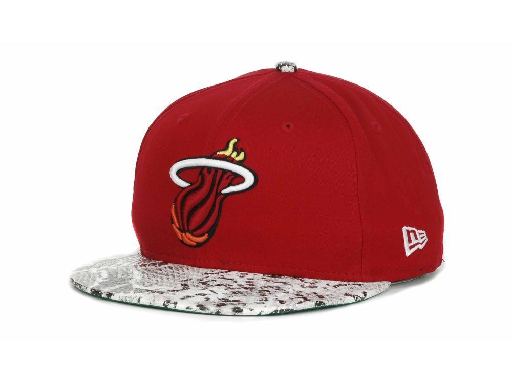 Miami Heat New Era NBA Hardwood Classics Snake Thru Cap Hats at lids.com