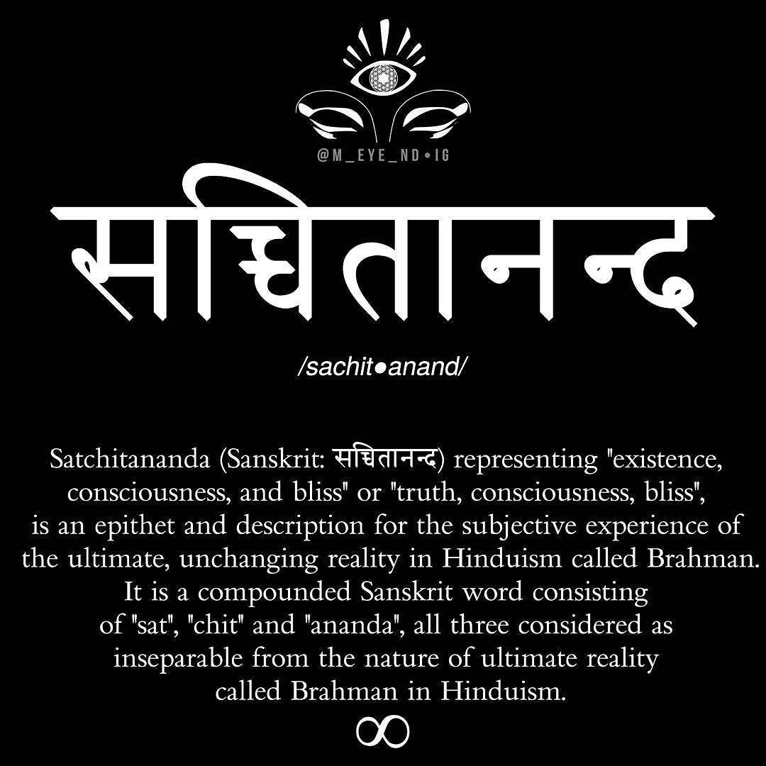 Satchitananda (Sanskrit: सचचतननद) Is A Compounded Sanskrit