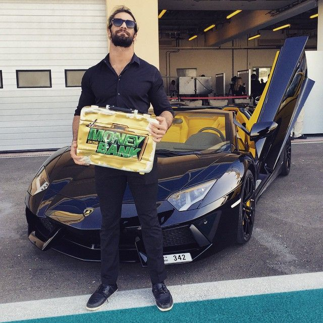 Seth Rollins Poses In Front Of His Awesome Car Wwe Wrestling