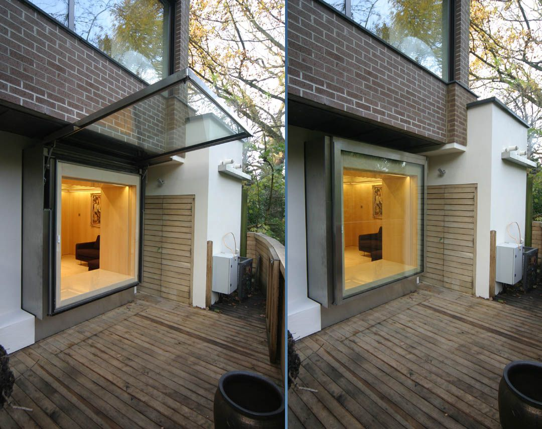 A Large Single Pane Top Hinged Window For An Amazing View