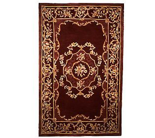 Royal Palace Floral Aubusson  Handmade Wool Rug