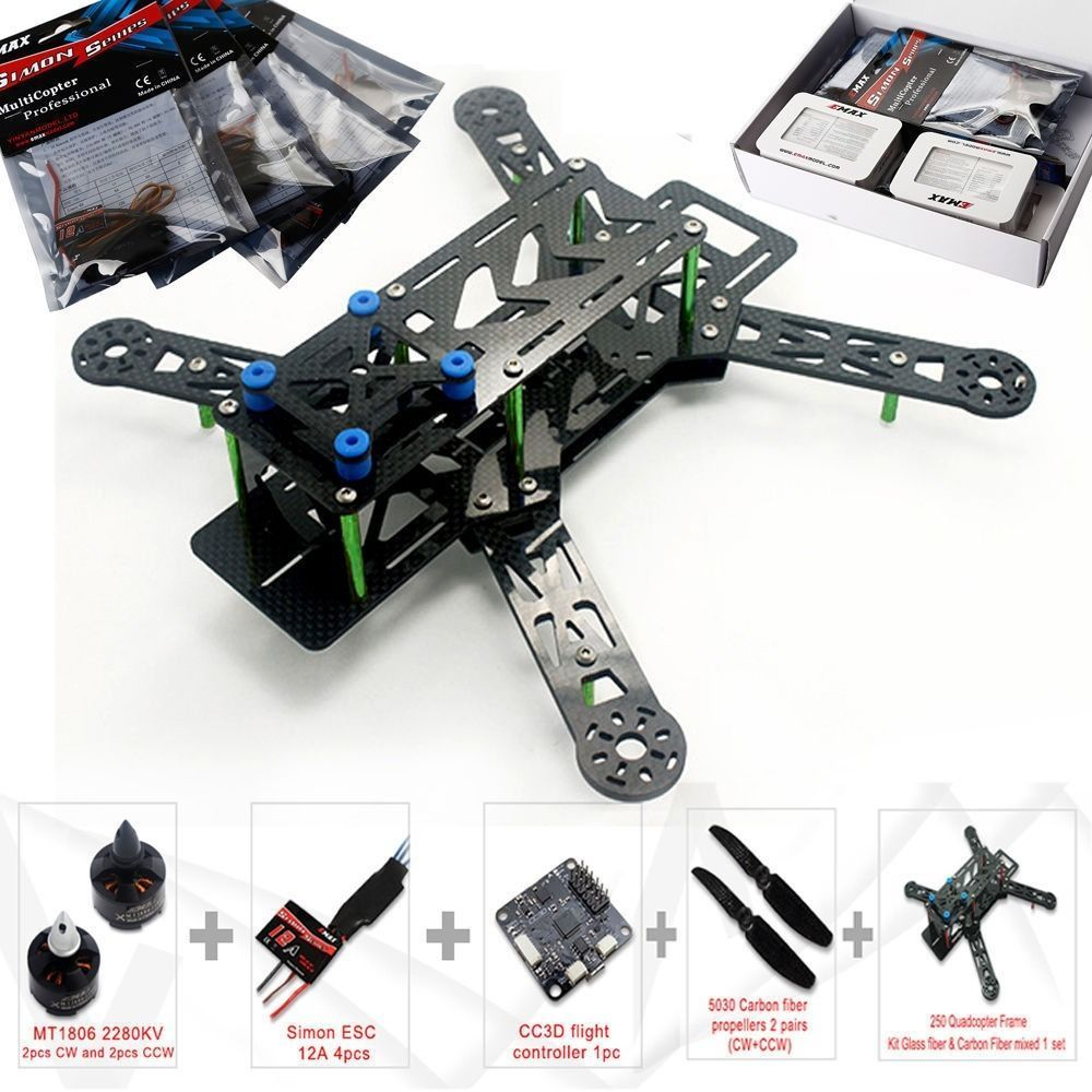 Emax Nighthawk 250 Quadcopter Combo Frame + CC3D Flight Control + ...