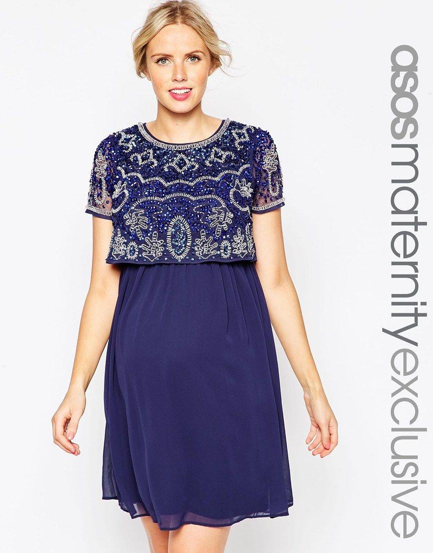 3e0356fee05 ASOS Maternity NURSING Midi Dress With Embellishment