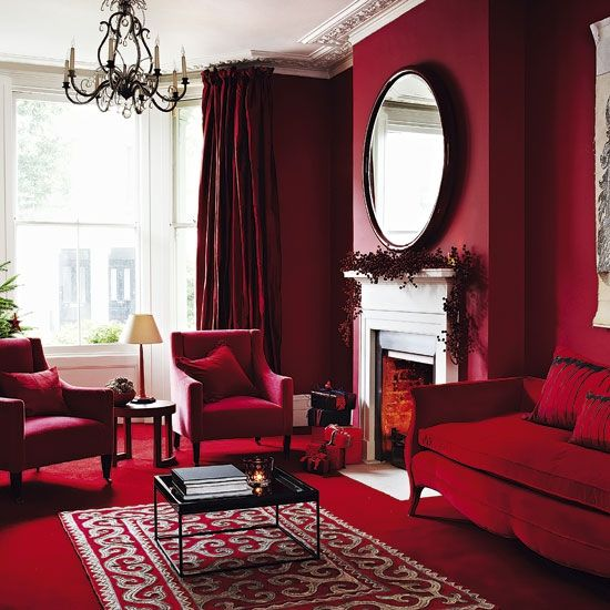 Color Palette For Your Home Jewel Tones Red Room Decor Living Room Red Living Room Design Red