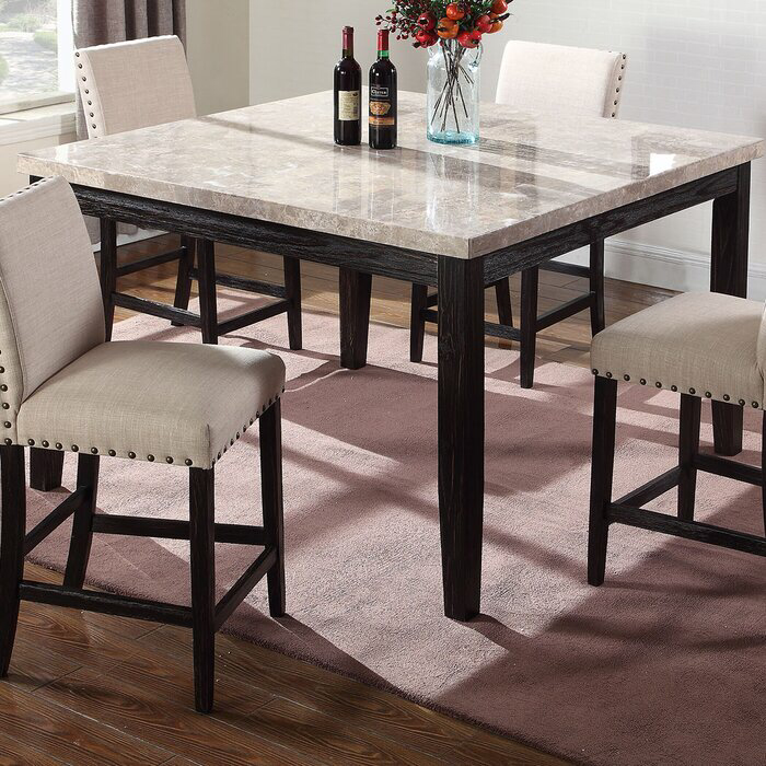 Wilber Counter Height Dining Table Counter Height Dining Table Marble Top Dining Table Dining Table