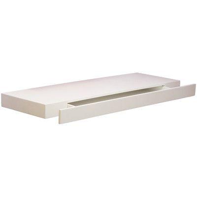 Mensola con cassetto bianco 77 x 25 cm arredamento for Mensola con cassetto