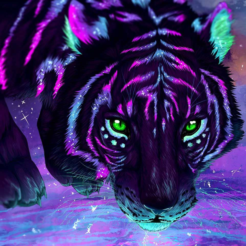 Lucid Tiger Wallpaper Engine Free   ANIMALS   Wallpaper Engine Wallpapers   Painting, Diamond ...