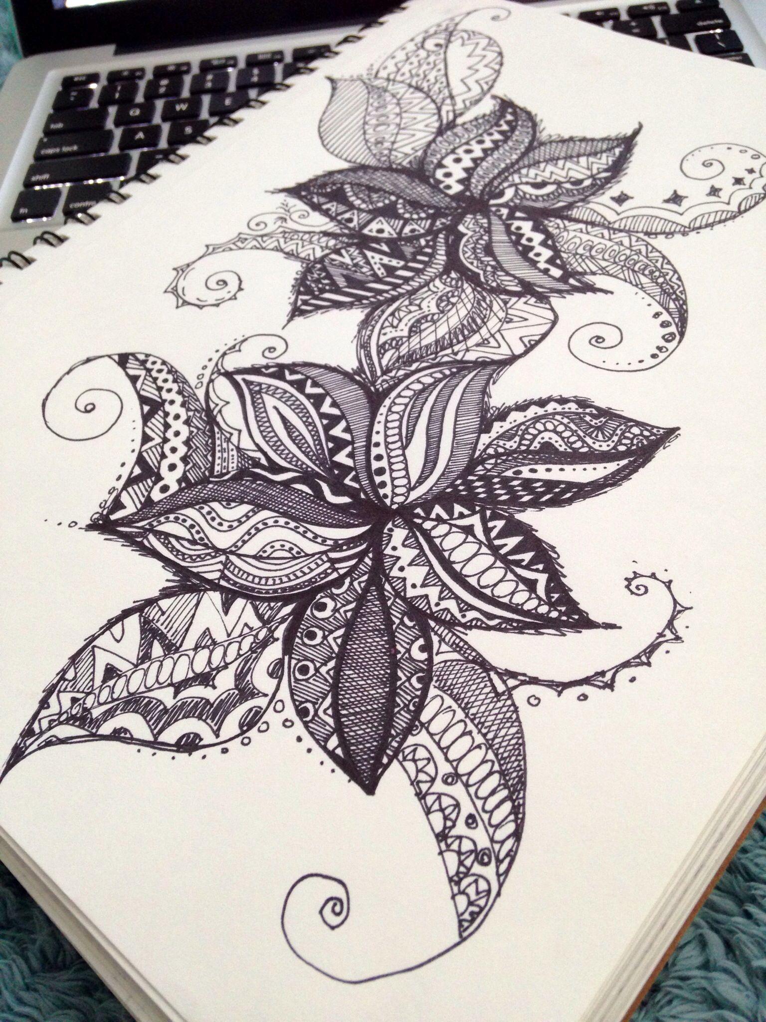 Doodle. Art. Sharpie drawing. By Maryana Kostyuk