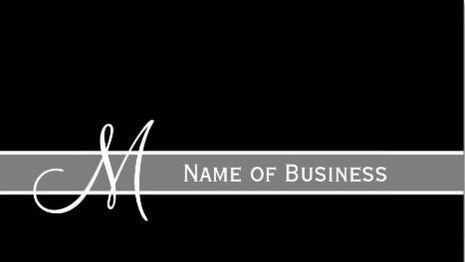 Elegant black and white monogram with name template business cards elegant black and white monogram with name template business cards http wajeb Images