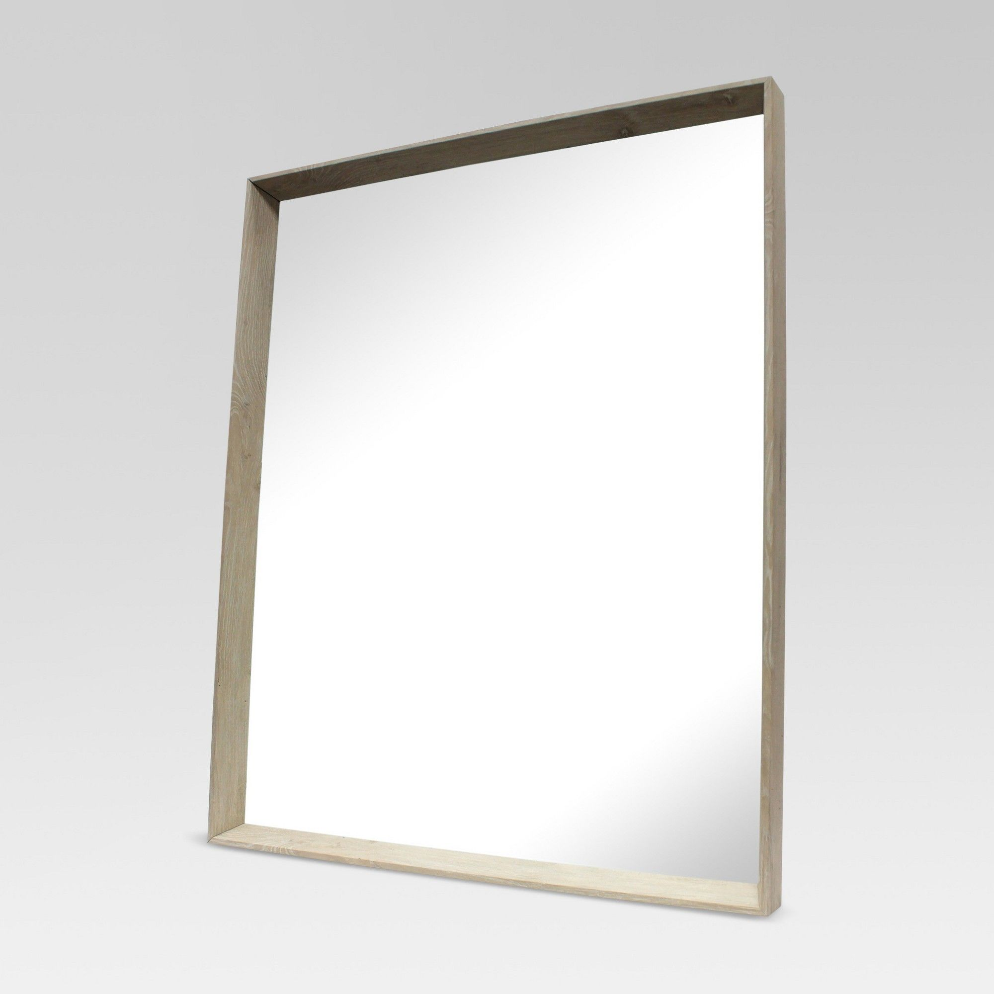 Square Ash Decorative Wall Mirror  Project 62, Brown