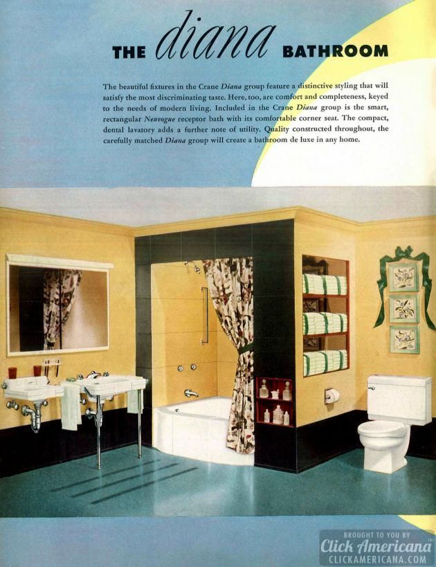 Photo of A retro restroom rainbow: Colorful modern bathrooms (1949) – Click Americana