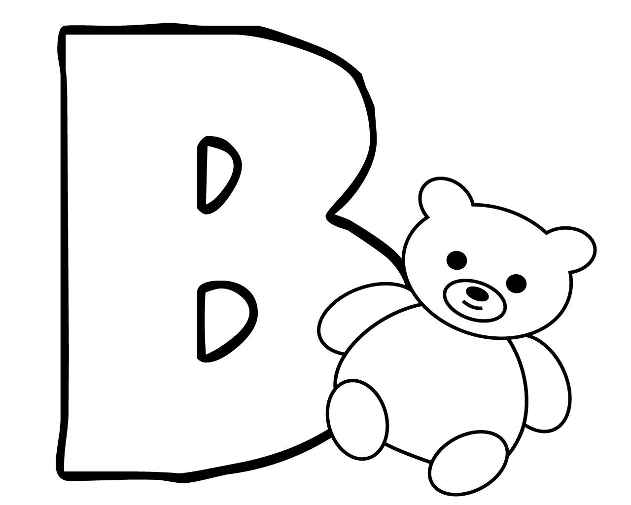 Letter B Coloring Pages For Preschoolers Letter B Coloring Pages Coloring Pages Coloring Pages For Kids