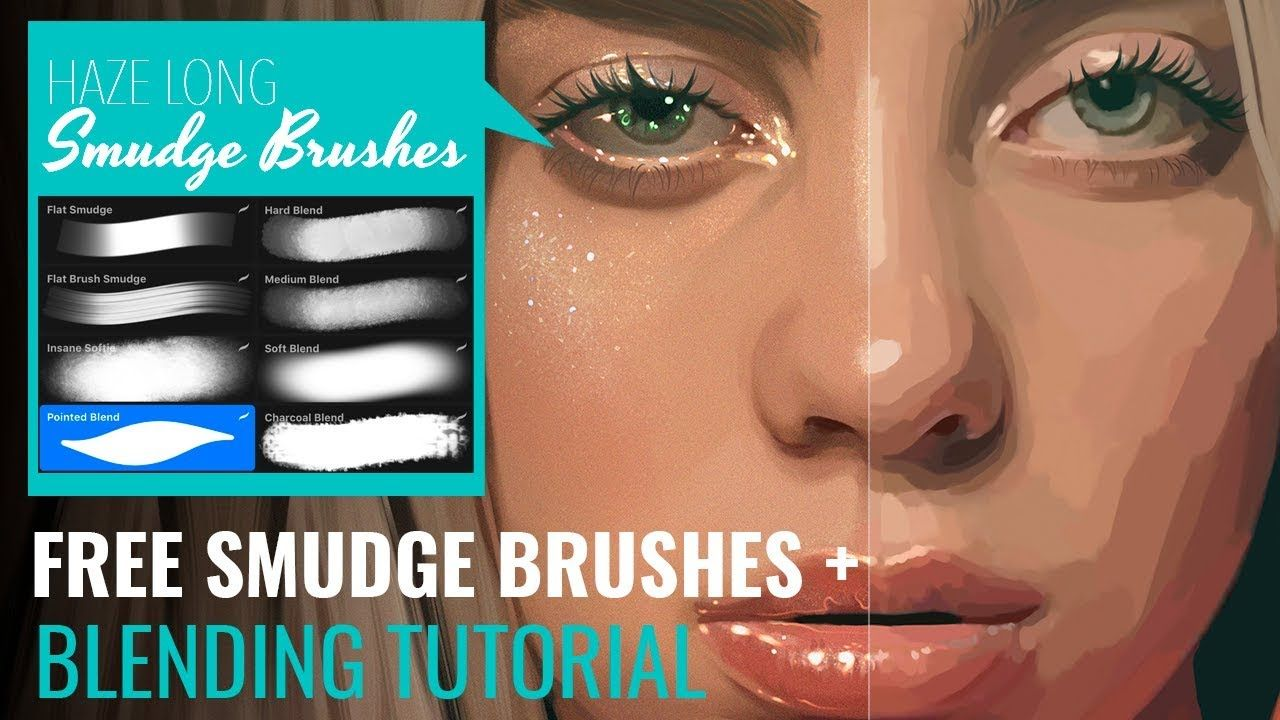 Smudge Brush Set Procreate Blending Tutorial By Haze Long Youtube Procreate Brushes Free Procreate Tutorial Digital Art Tutorial Beginner