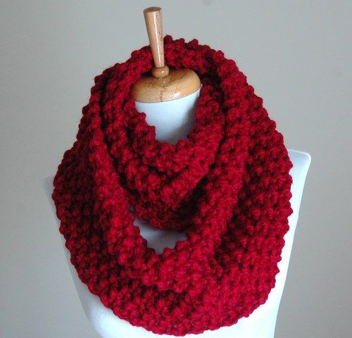 free knitting pattern for chunky infinity scarves | Infinity Scarf ...
