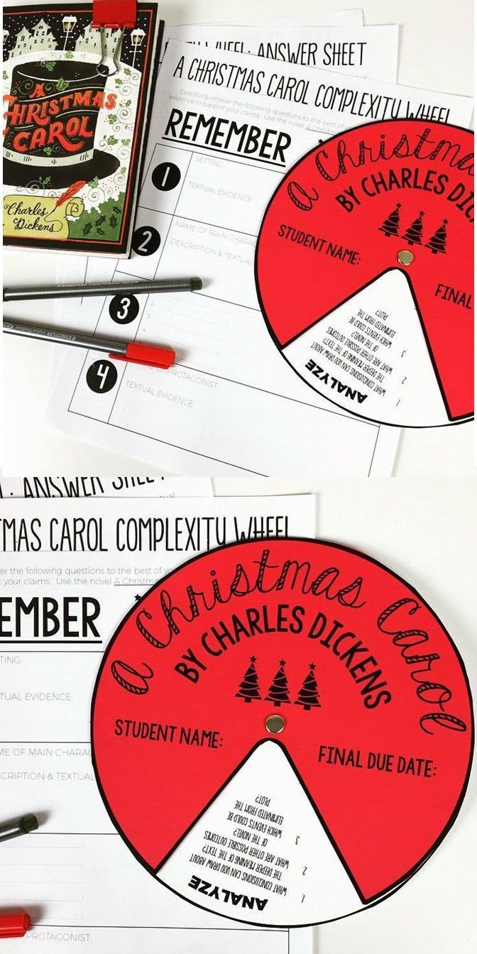 task cards a christmas carol literature posts and assessment a christmas carol complexity wheel