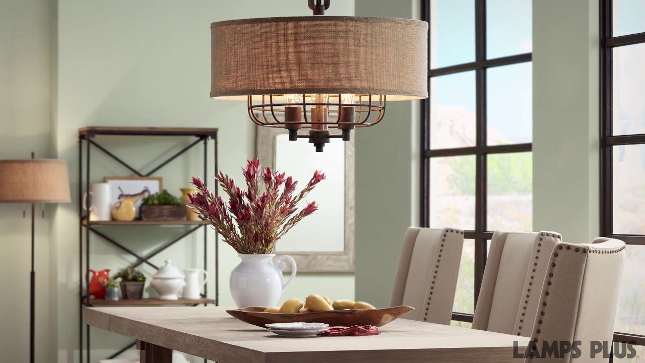 Tremont 20 Quot Wide Rust Pendant Light By Franklin Iron Works 4c329 Lamps Plus Dining Room