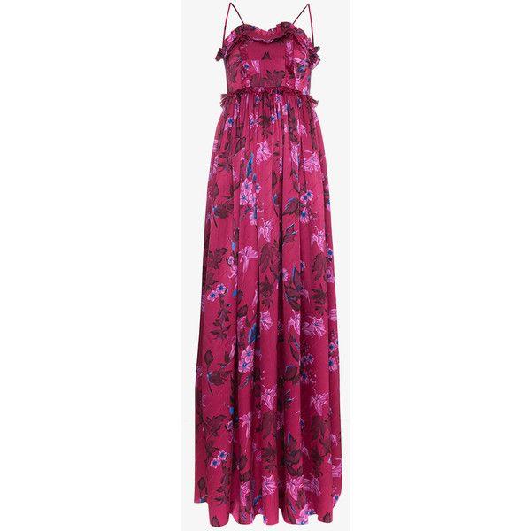 Summer sleeveless floral jacquard silk gown - Pink & Purple Balenciaga xnx3J6bT