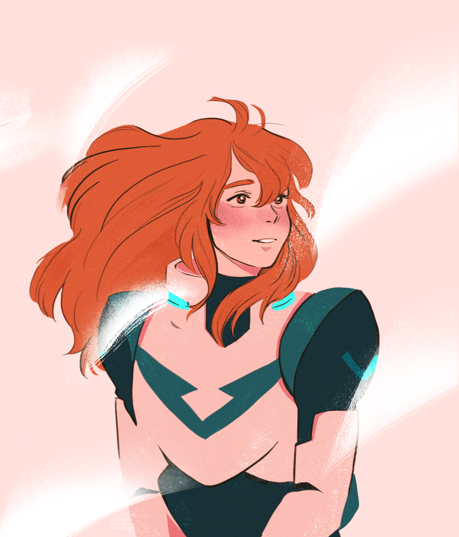Pidge Katie Holt The Green Paladin With Beautiful Long Hair From Voltron Legendary Defender Voltron Fanart Matt Holt Voltron Voltron