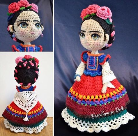 Pin de Martha Dalila en muñecas | Pinterest | Frida, Patrones ...