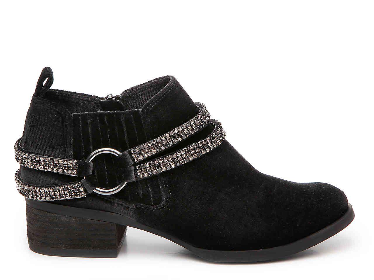 aa0c8f49a468 Not Rated Nelia Velvet Bootie Women s Shoes