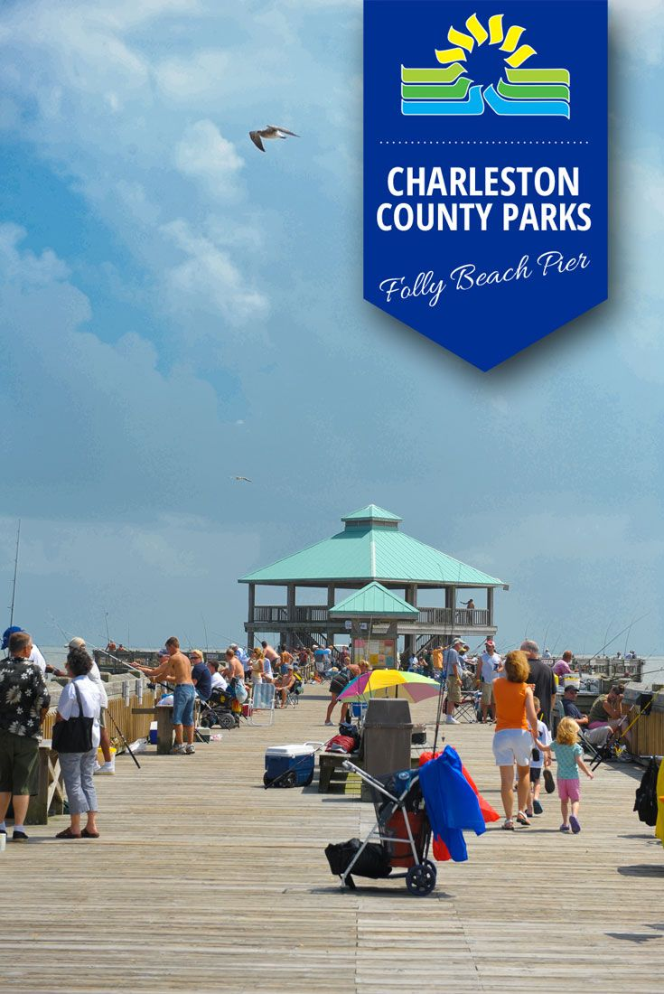 Summertime at the Folly Beach Pier | Charleston County Fishing Piers