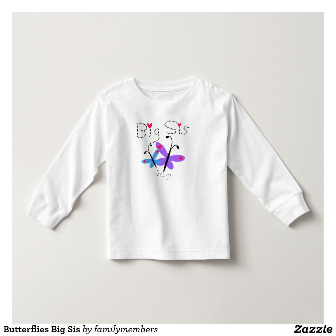 Butterflies Big Sis T Shirt