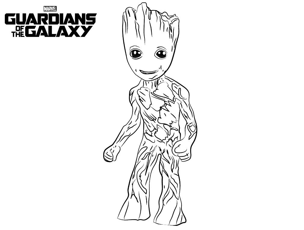 Guardians of Galaxy Guardians of Galaxy Coloring Pages