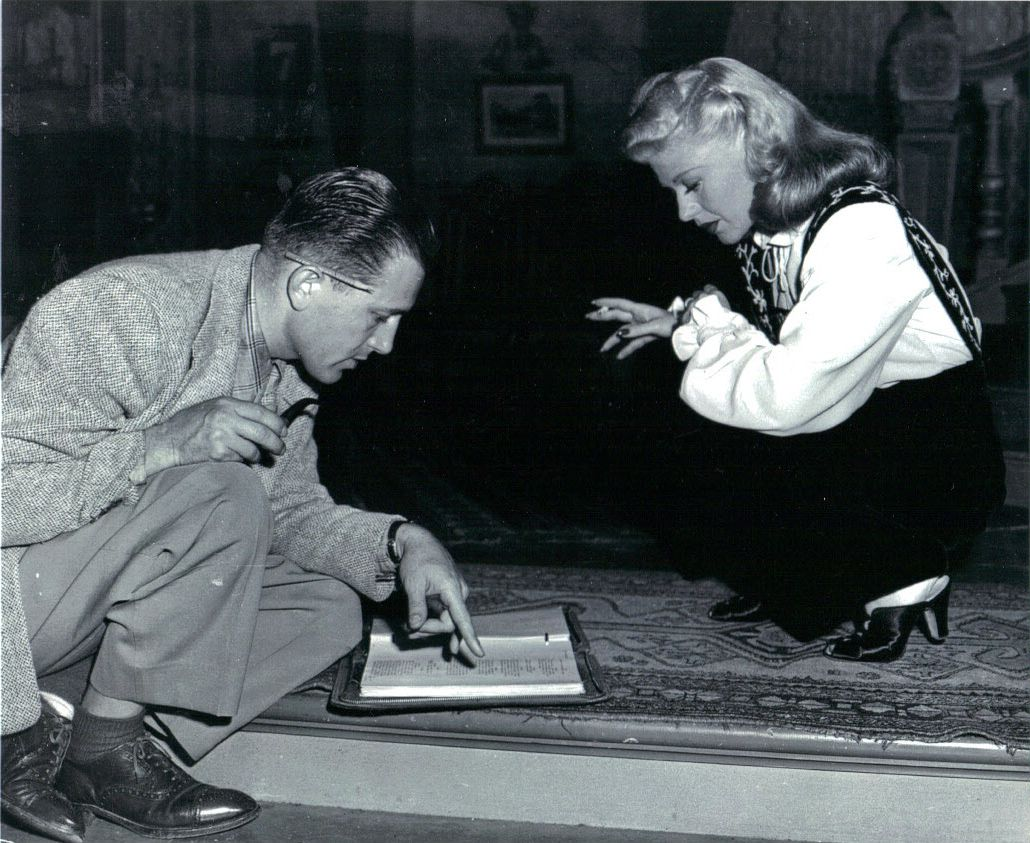 Ginger Rogers on the set of Tender Comrade