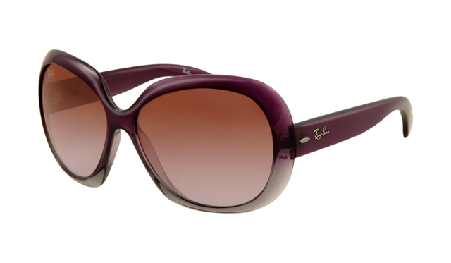 Ray Ban RB4098 Jackie Ohh II Sunglasses Purple Frame Wine Red Gr. Lunettes  De ... 308ab0bc5aa3