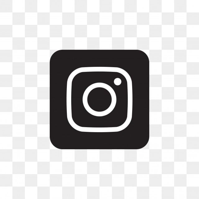 Instagram Social Media Icon Design Template Vector, Black