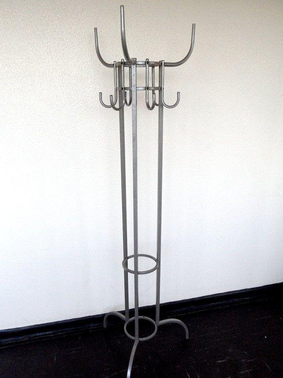 IKEA Industrial Coat Rack Stand, Silver Gray Metal in London, UK ~ Krrb