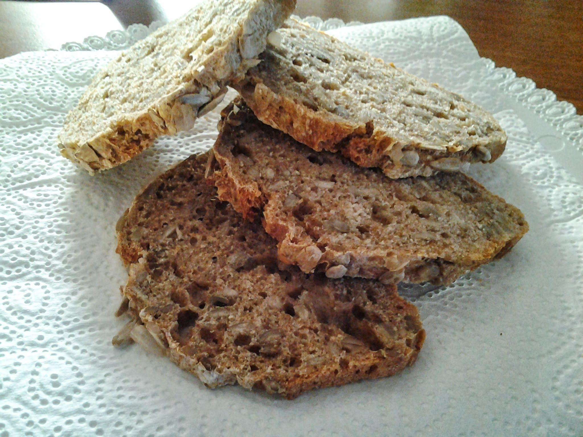 Il mio primo pane integrale #pane #semi #girasole